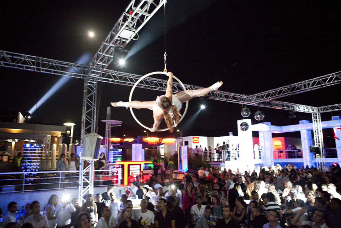 Aerial Shows - Hoop Gallery - Cyprus hoop 1