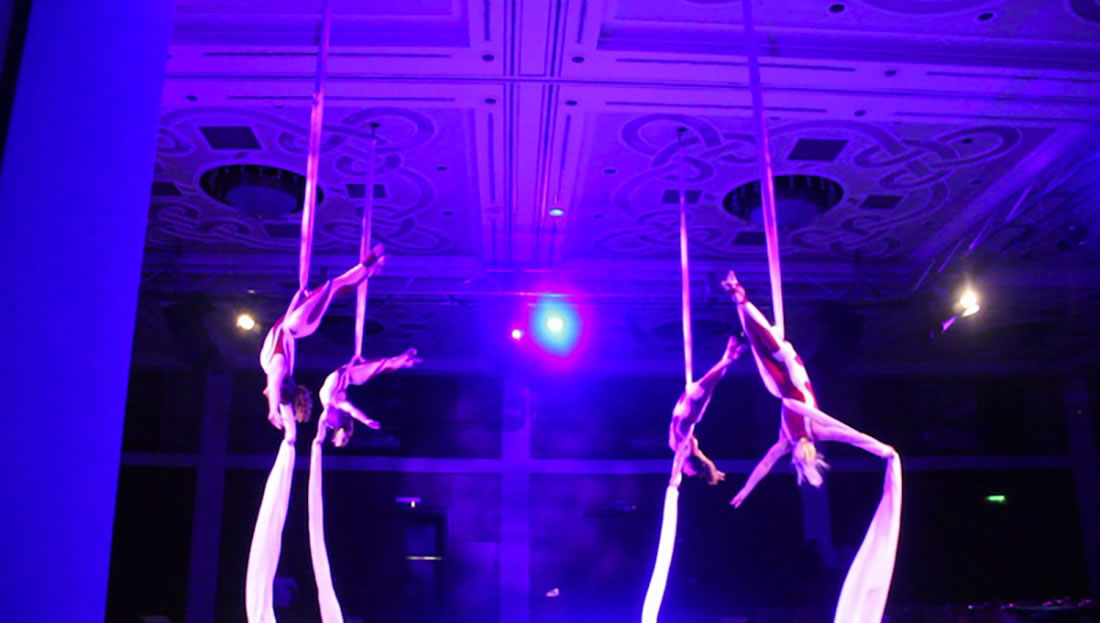 Aerial Shows - Silks Gallery - Celtic Manor