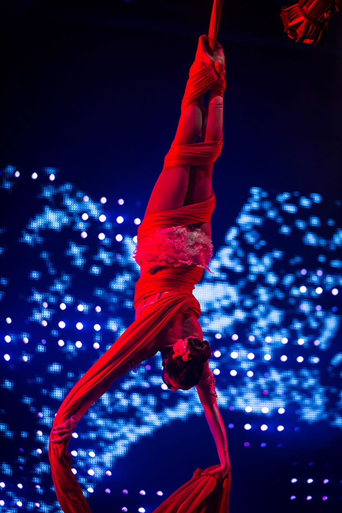 Aerial Shows - Silks Gallery - Liverpool corporate event 1