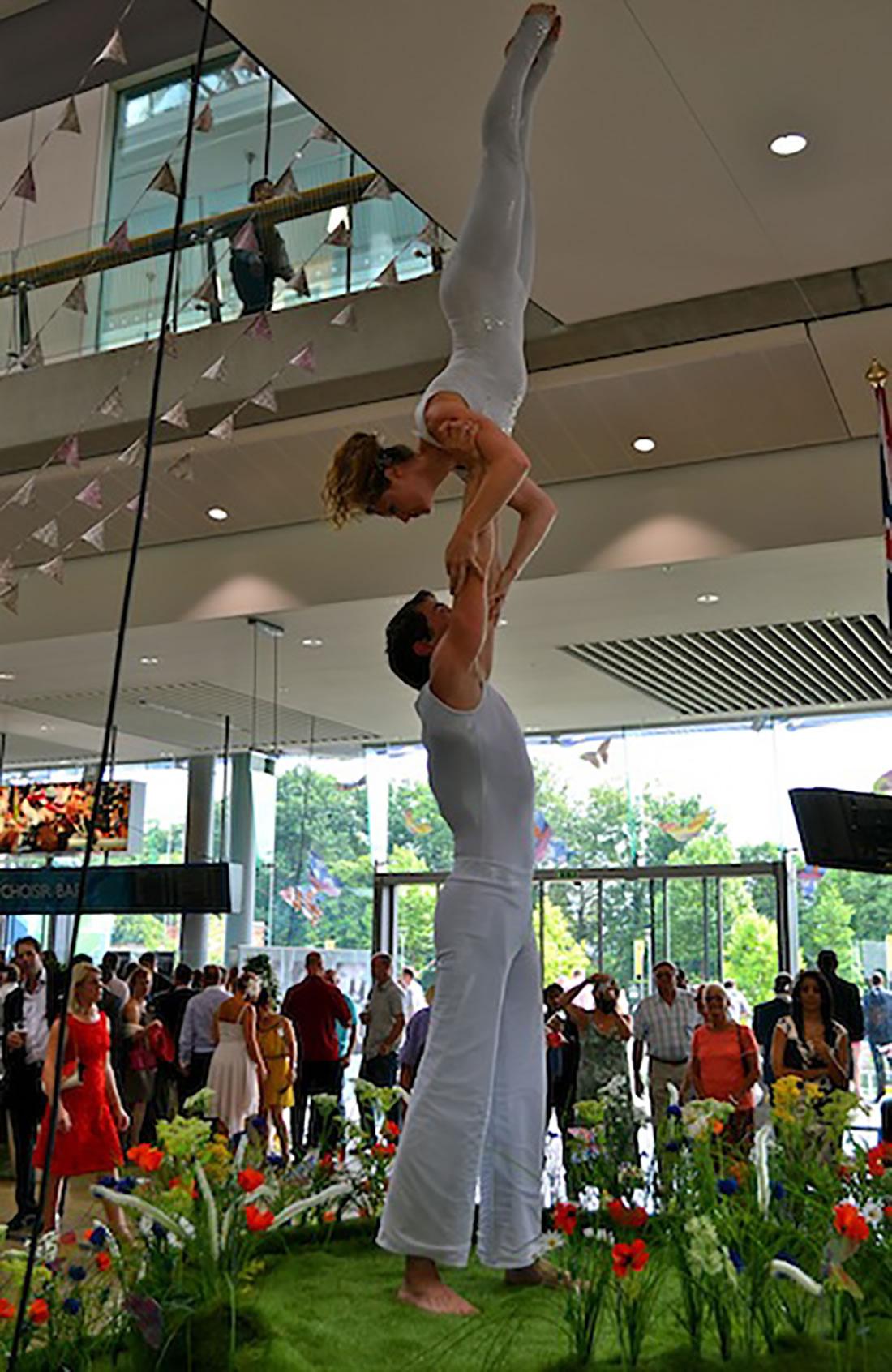 Groundbased Shows - Acrobats Gallery - Acrobatic Duet - Ascot Racecourse