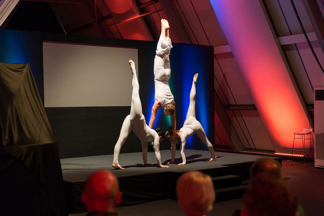 Groundbased Shows - Acrobats Gallery - Acrobatic Trio for Doosan G2 launch at Millbrook 3