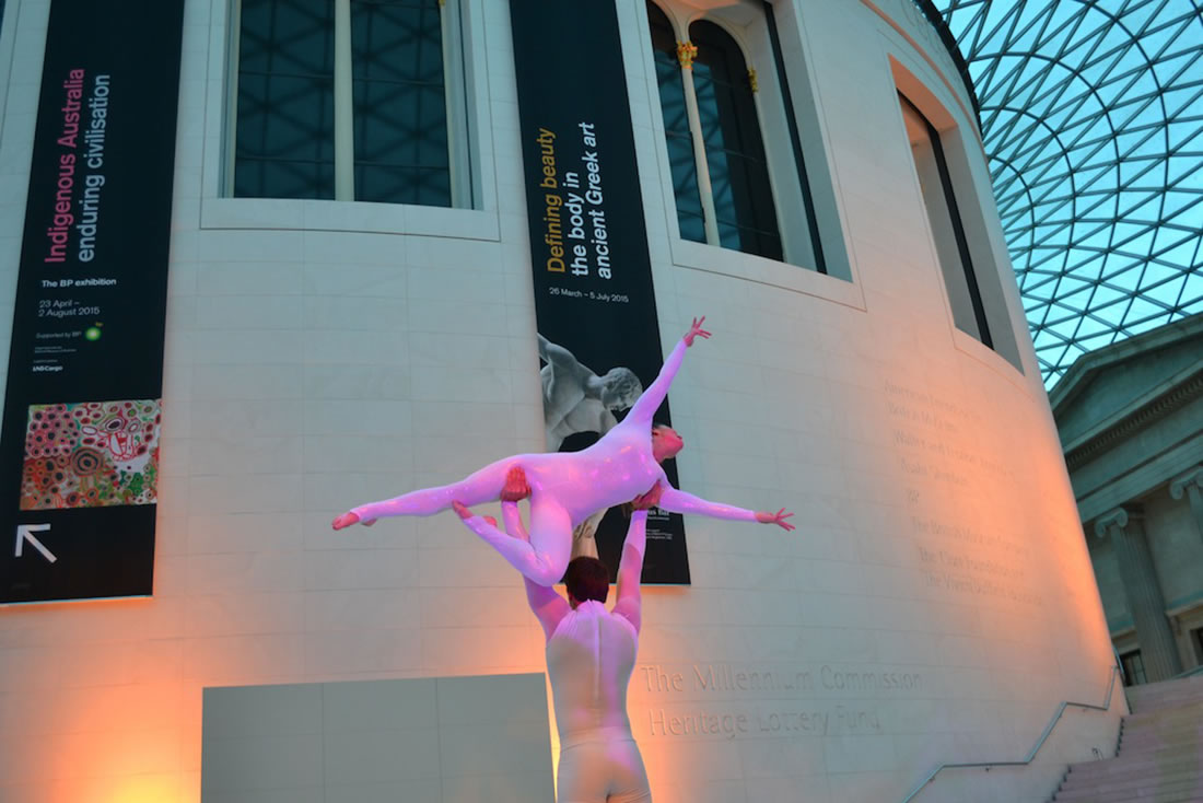 Groundbased Shows - Acrobats Gallery - Acrobatic duet at British Museum