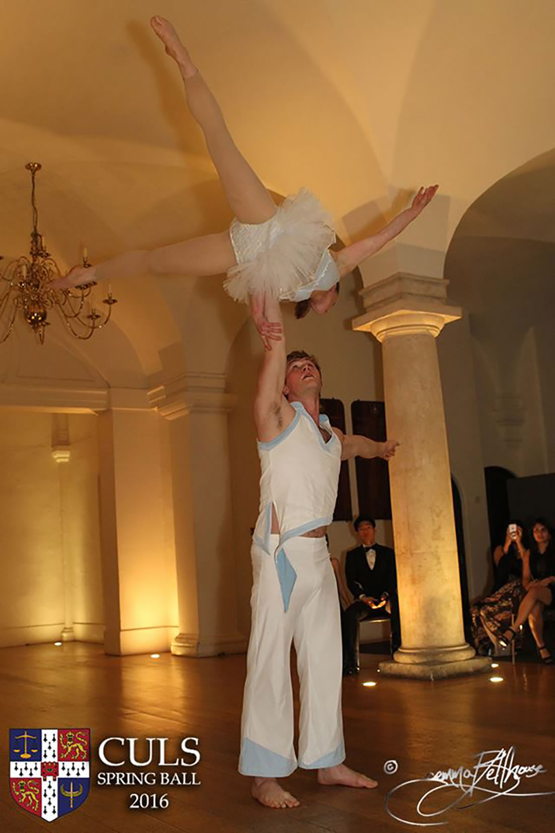Groundbased Shows - Acrobats Gallery - Acrobatic duet at Cambridge Ball