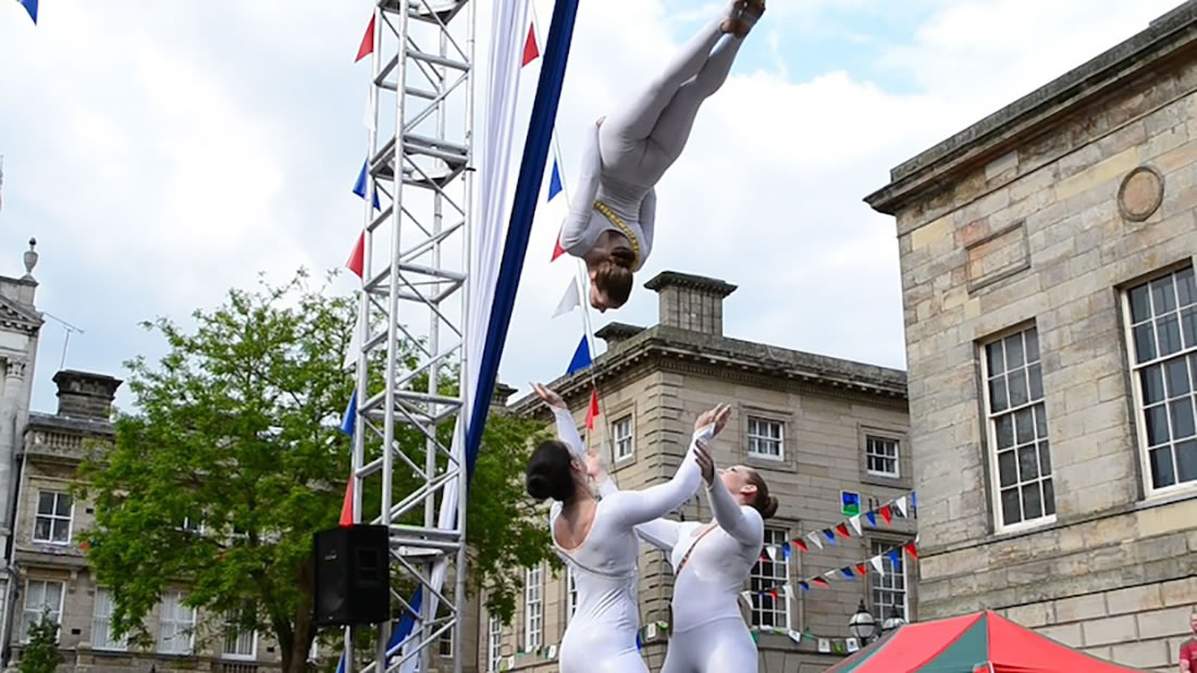 Groundbased Shows - Acrobats Gallery - Olympic Torch Stafford 1