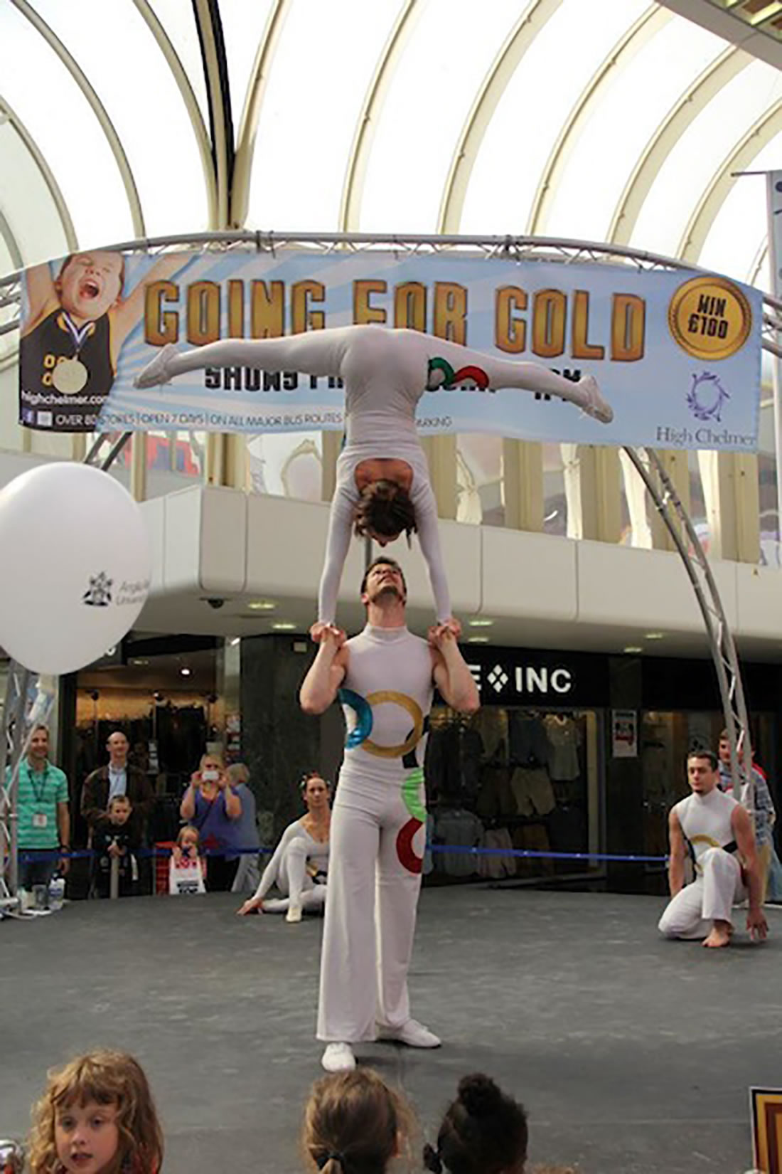 Groundbased Shows - Acrobats Gallery - Olympic event Chelmsford