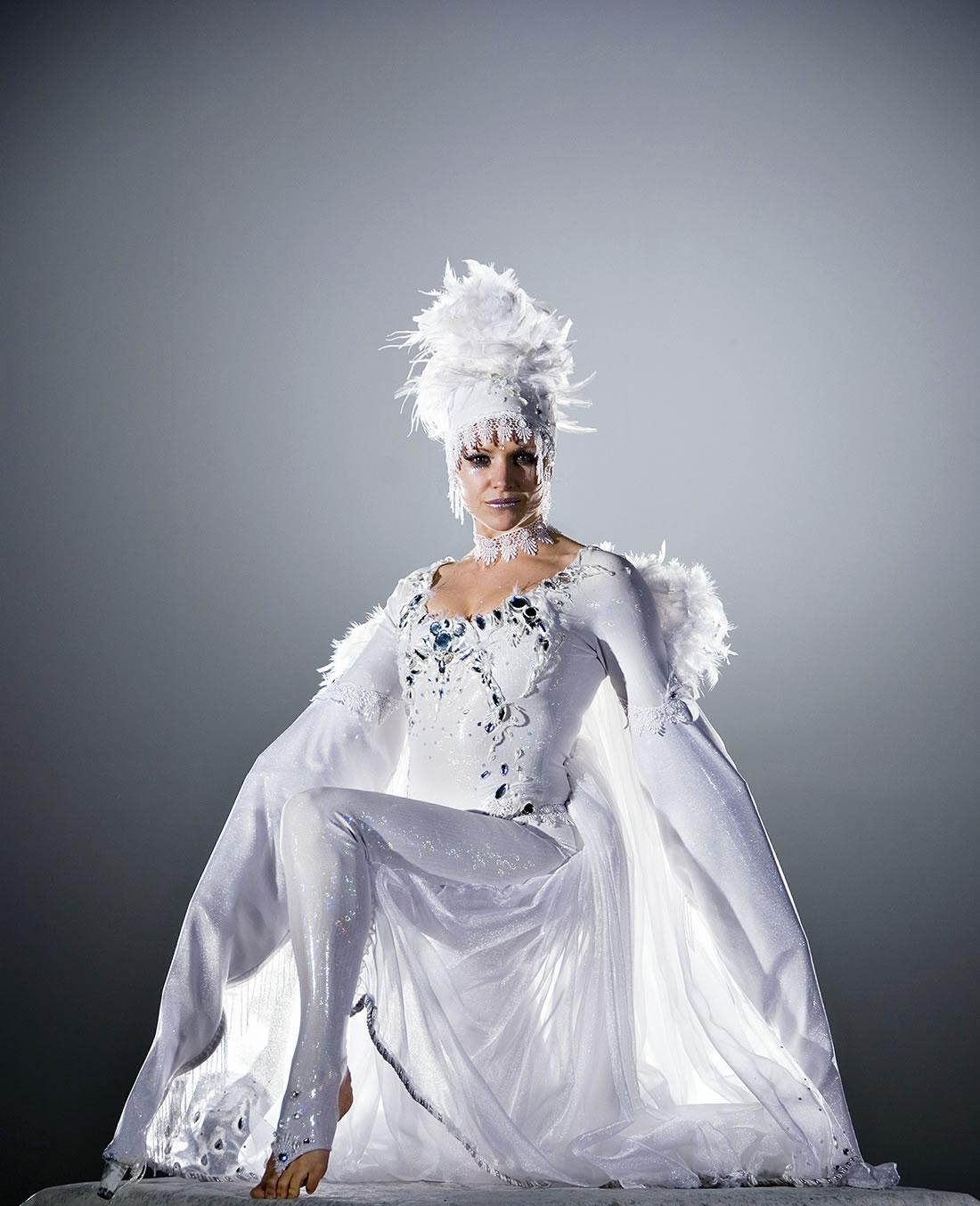 Groundbased Shows - Ballerinas Gallery - Crystalline costume with Swarovski crystals