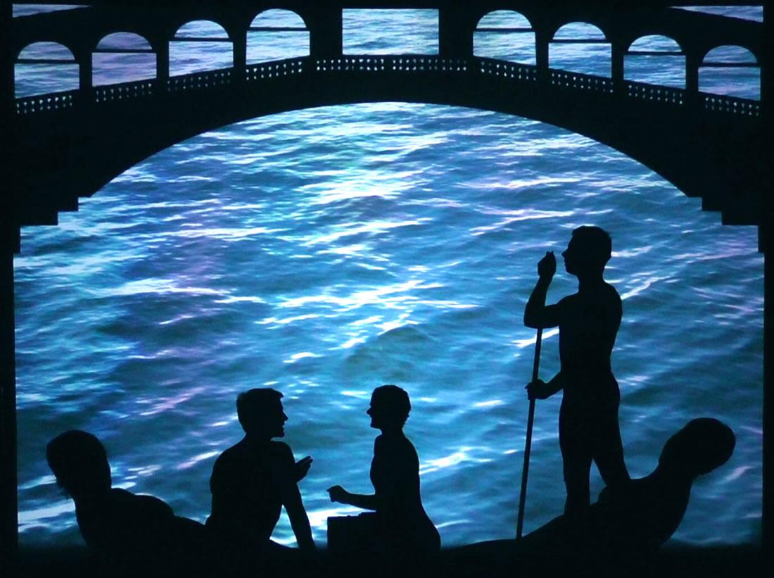 Shadow Shows - Connect Gallery - Venice gondola