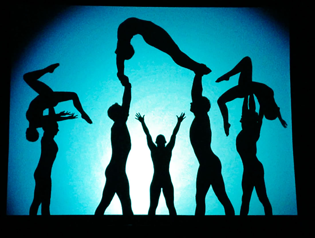 Shadow Shows - Evolve Gallery - Acrobatic tableau finale