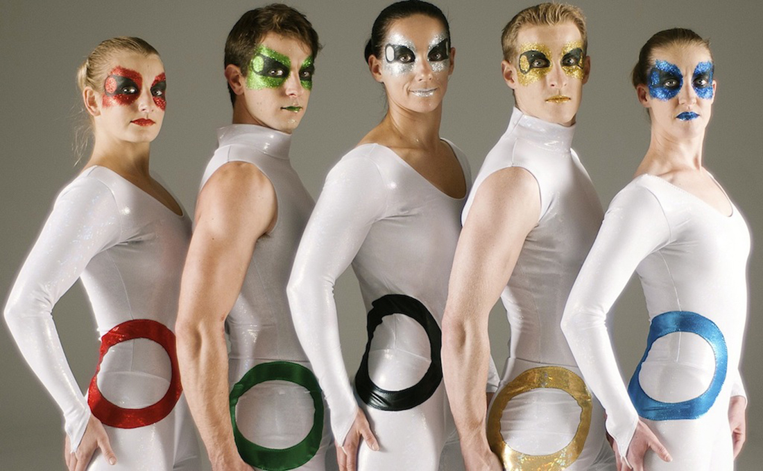 White catsuits with rings